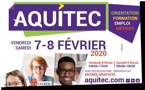 La MFR de Vayres vous informe sur les formations au salon Aquitec de Bordeaux, les 8 et 9 février 2020